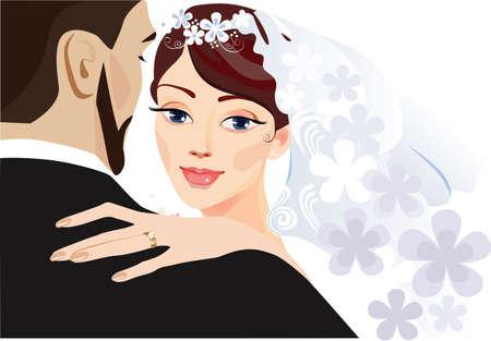wedding bride: bride and groom