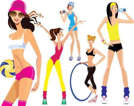 sports girl: sports girl