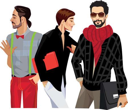 beautiful boys: three fashionable men