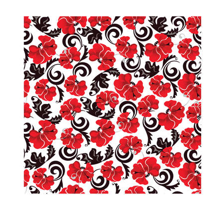 poppies: seamless pattern of image of poppies