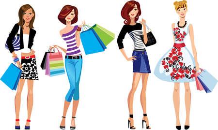 fashion girls, shopping girl, woman face