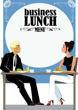 hombres ejecutivos: menu for business lunch, people at lunch