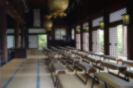 chanting: chanting hall in the Golden Pavilion,Japan