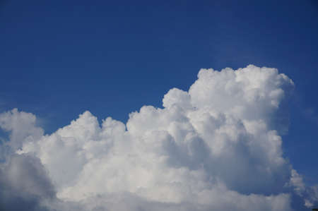 cloudscapes: white cloud and blue sky