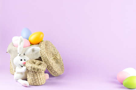 easteregg: easter eggs in rustic basket