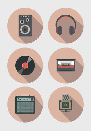 combo: Music instruments icons