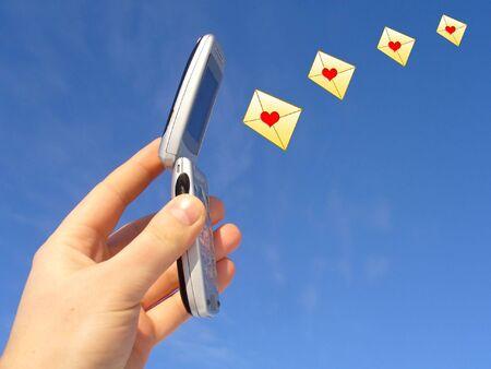 sending love message photo