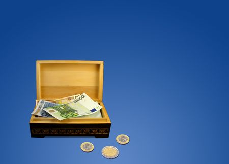 Euros in box photo
