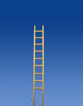 Golden ladder Stock Photo