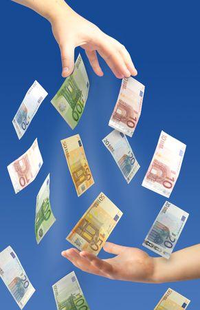 giving money: Giving money