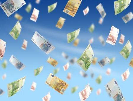 Flying money photo