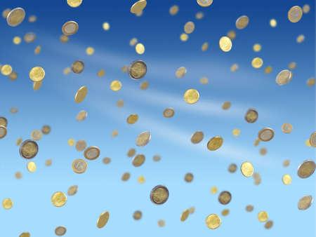 cash flows: Falling euro coins
