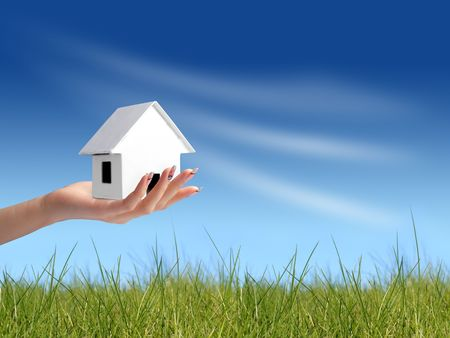 Giving new house Stock Photo - 2558384