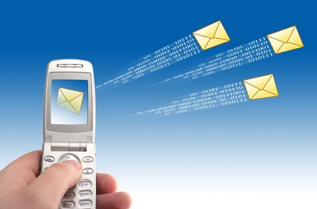 Send message Stock Photo - 2892050