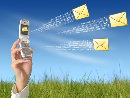 Send message Stock Photo - 3063537