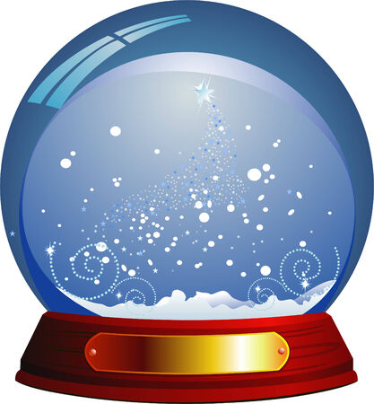 Vector snow globe Stock Vector - 3834948