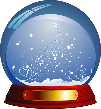 Vector snow globe Stock Vector - 3834948