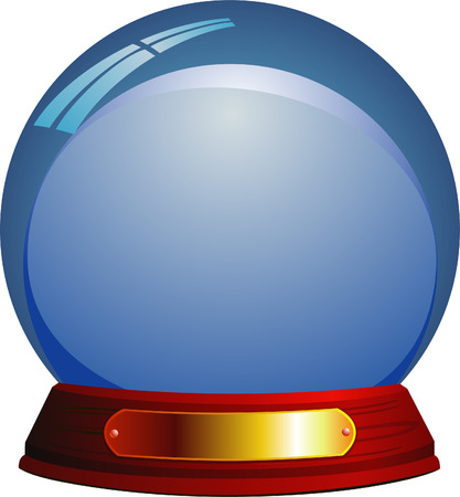 snow cap: Glass sphere Illustration