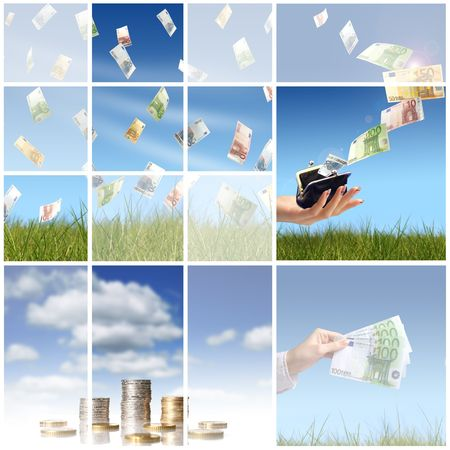 Collage. Invest in real estate concept. photo
