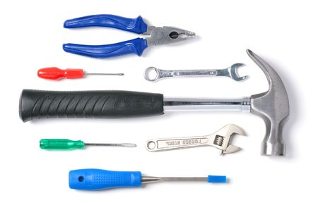 Set of tools isolated over white background. Stock Photo - 5658582