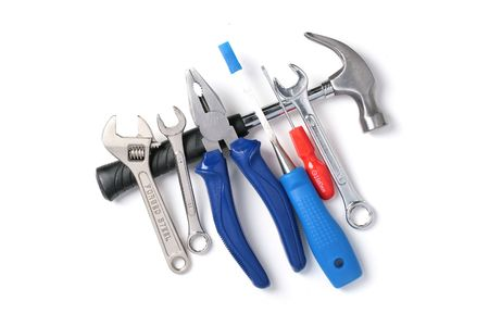 Set of tools isolated over white background. Stock Photo - 5658584