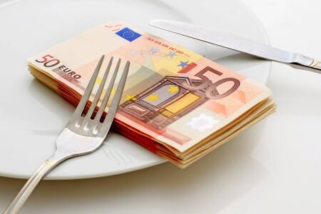 Money concept. Isolated over white. Stock Photo - 8703760