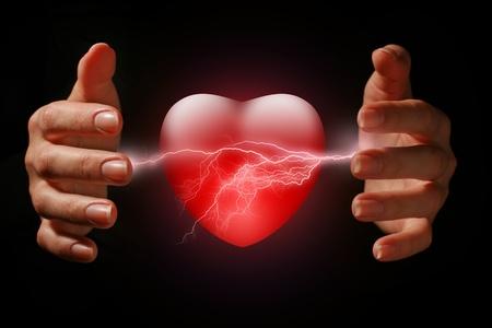 descarga electrica: Concepto de salud.