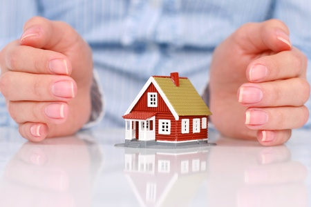home insurance: Real estate concept.