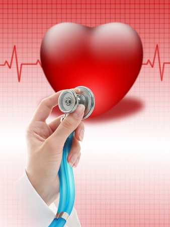 cardiac care: Health insurance concept.