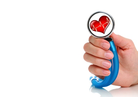 Health care concept. Stethoscope in female hand. Stock Photo - 9019456