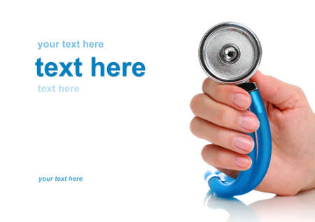 Health care concept. Stethoscope in female hand. Stock Photo - 9019469