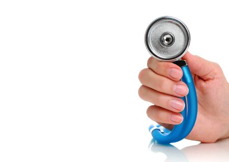 Health care concept. Stethoscope in female hand. Stock Photo - 9019467