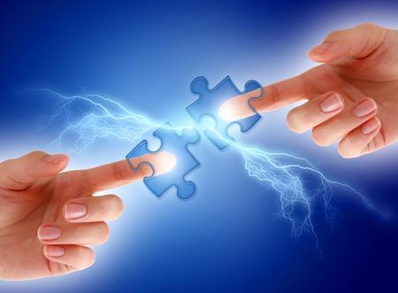 electric spark: Communication concept.
