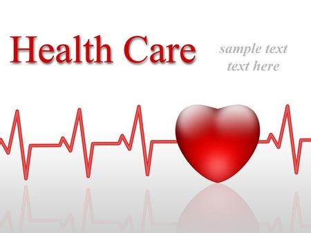heart medical: Health care concep. Medical collage.