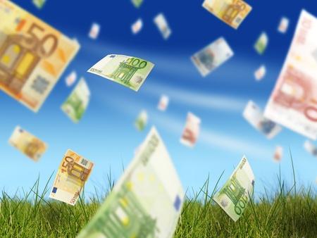 dinero volando: El dinero concepto.