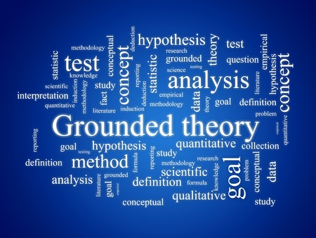 quantitative: Grounded theory. Stock Photo