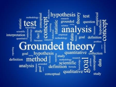 metodo cientifico: La teoría fundamentada. Foto de archivo