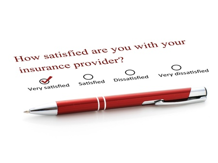 life is good: Pen and checklist isolated over white background. Stock Photo