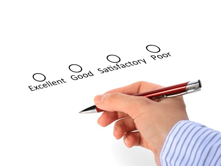 Quality control. Concept over white background. Stock Photo - 17445802
