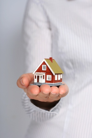 cocnept: Real estate cocnept  Small house in female hands