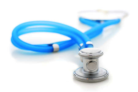 Stethoscope isolated over white background. photo