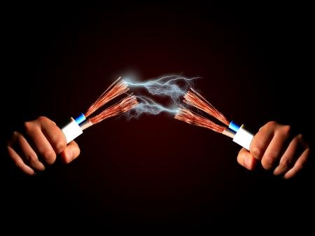 Puissance de décharge câble électrique et Banque d'images - 19099423