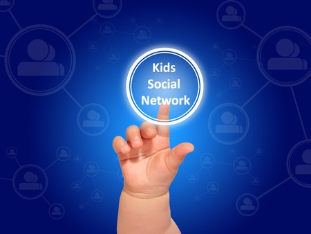 Kids social networks. Conceptual collage. Stock Photo - 19721314