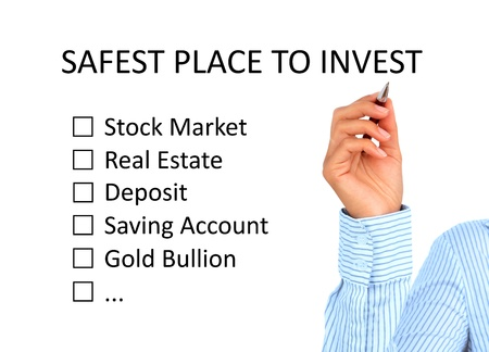 real estate market: Hand is writing investment plan