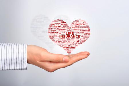 醫療保健: 人壽保險的概念。