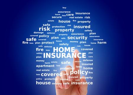 Home insurance concept. Standard-Bild
