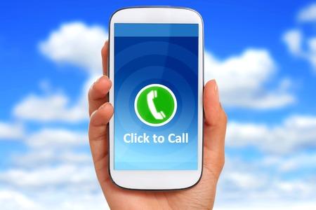 Cliquez pour appeler notion Banque d'images - 37433915