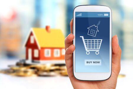 Immobilien-Anlagekonzept. Haus und Geld. Standard-Bild - 57154677
