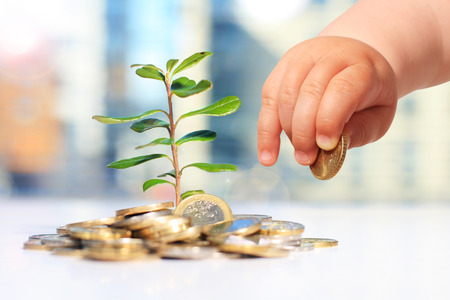 Growing plants and money. Success in business.