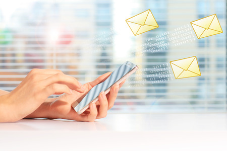 Send SMS message Banque d'images